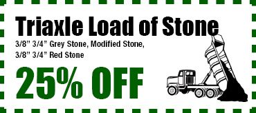 25% OFF Triaxle Load of Stone